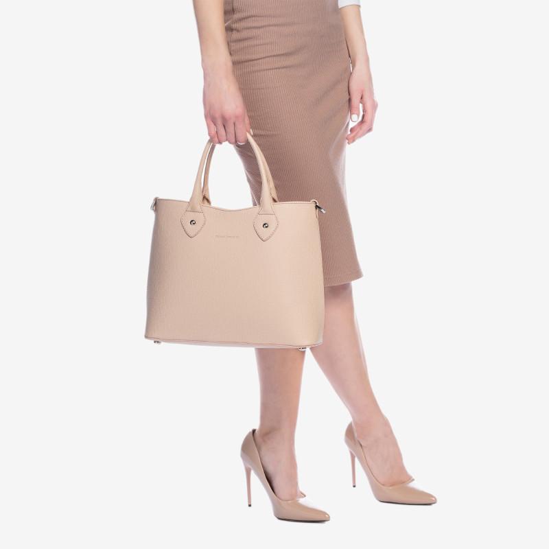 shopper bag pudrovo ružová kabelka