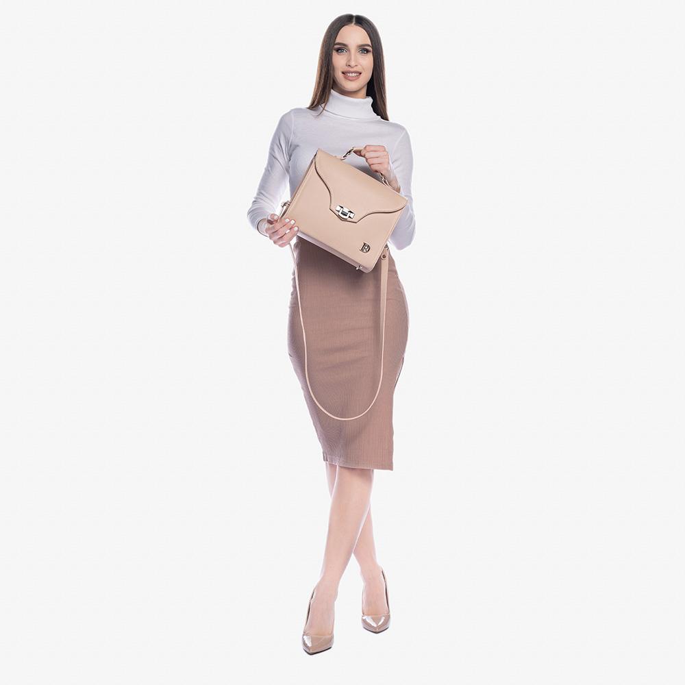 elegantná  pudrovo ružová kabelka