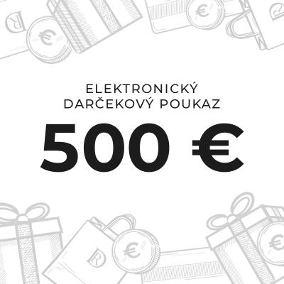 Elektronický darčekový poukaz na 500 €