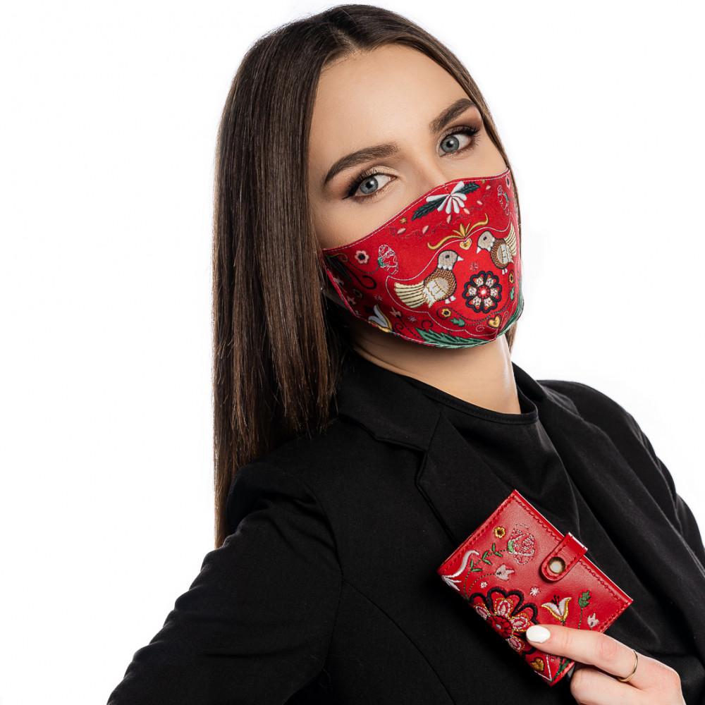 """Set Srdce Európy - Rúško a Card Holder """"červené"""""""